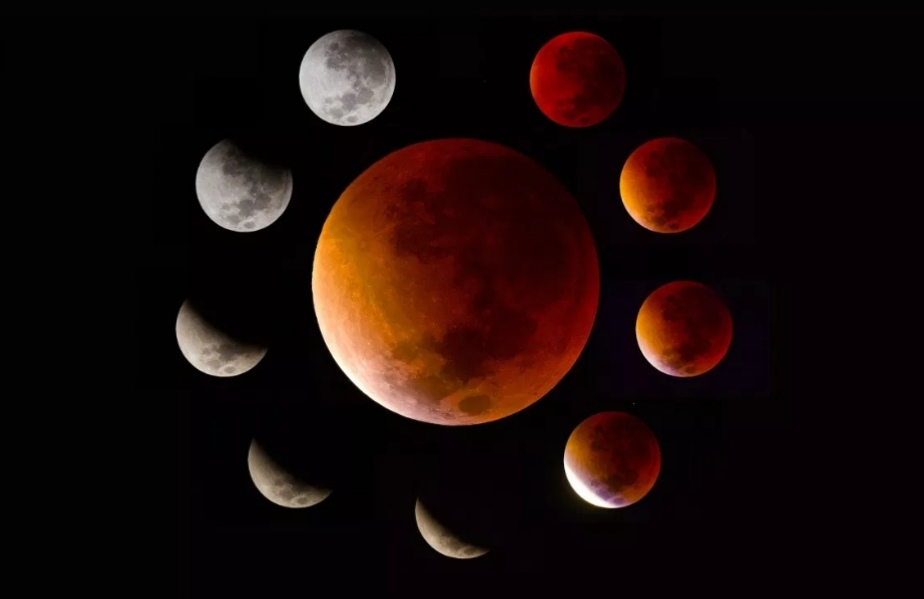 Super blood wolf moon: stargazers battle cold and clouds to view lunar eclipse