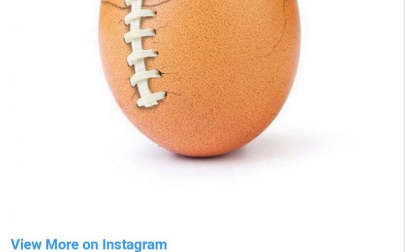 Instagram's most-liked egg revealed as mental health advert