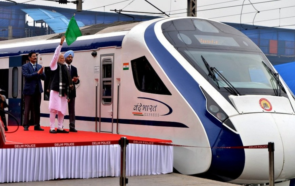 India's first semi-high speed train breaks down day after launch