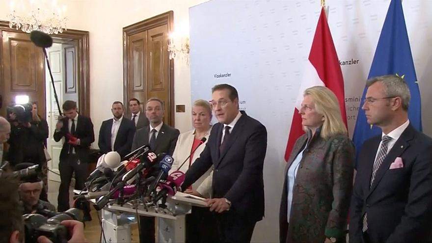 Austria's FPÖ ministers resign en masse to protest colleague's sacking in wake of video scandal