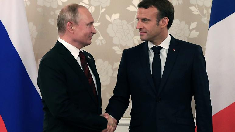 Ukraine high on agenda as Macron meets Putin before G7