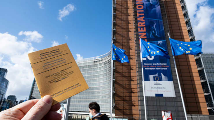 EU proposes vaccine certificates for travel — but citizens might not need a shot
